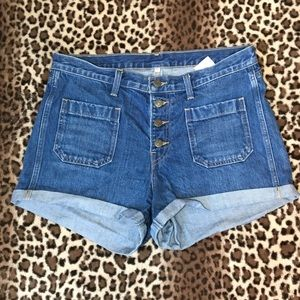 Levi's Orange Tab High Rise 4 Button Jean Shorts